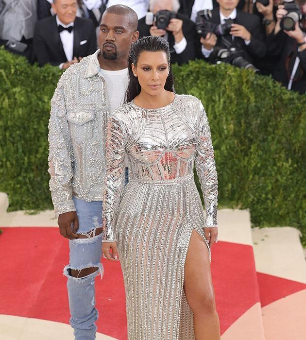 Kim and Kanye are proud parents. Source: Getty
