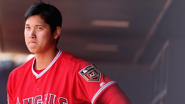 Shohei Ohtani's struggles in spring training are getting harder to ignore. (AP)