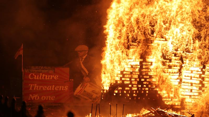 Foster expresses 'regret' at sectarian messages on some Twelfth of July bonfires