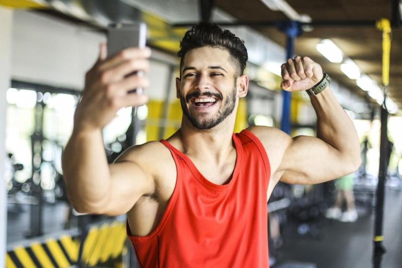 Interestingly, 58 per cent of people said they can't stand it when they see gym selfies as a person's profile picture. Photo: Getty Images