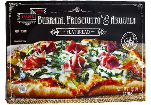 """<p>You can't beat the price of $5 for this delicious <a href=""""https://www.traderjoes.com/fearless-flyer/article/4795"""" target=""""_blank"""" class=""""ga-track"""" data-ga-category=""""Related"""" data-ga-label=""""https://www.traderjoes.com/fearless-flyer/article/4795"""" data-ga-action=""""In-Line Links"""">oven flatbread.</a> It's ready in just 12 minutes. </p>"""