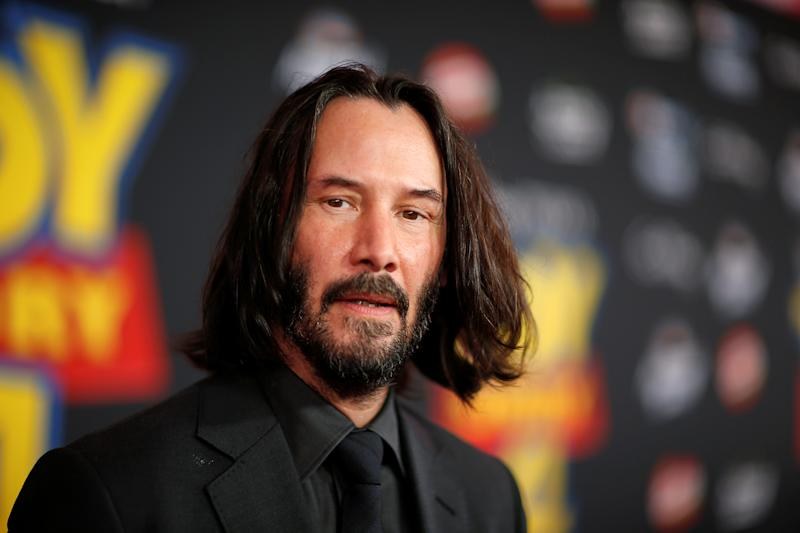 "Actor Keanu Reeves attends the premiere for ""Toy Story 4"" in Los Angeles, California, U.S., June 11, 2019. REUTERS/Mario Anzuoni"