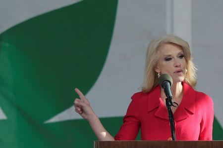 Counselor to the President Kellyanne Conway speaks at the annual March for Life rally in Washington