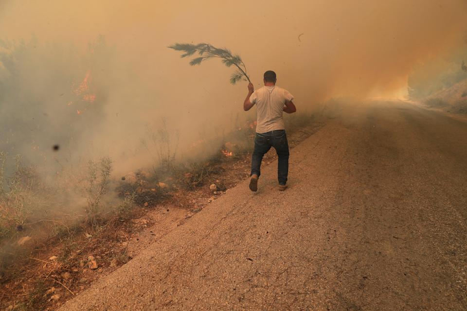 Lebanon Wildfire (Copyright 2021The Associated Press. All right reserved)