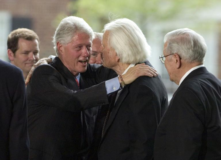 Evangelist Billy Graham, seen here with Bill Clinton in May 2007, served as advisor to a dozen US presidents