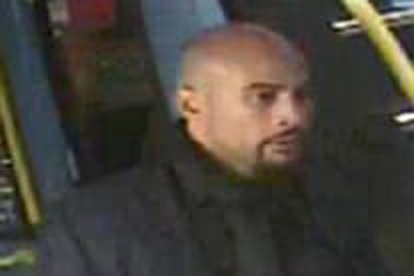 Manhunt: Police have released a CCTV image of this man following the incident (Met Police)
