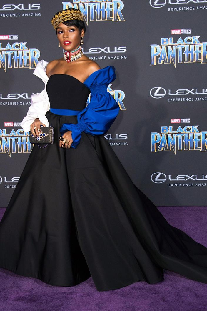 """<h1 class=""""title"""">Janelle Monáe</h1> <div class=""""caption""""> Wearing Christian Siriano. </div> <cite class=""""credit"""">By Valerie Macon/AFP/Getty Images.</cite>"""