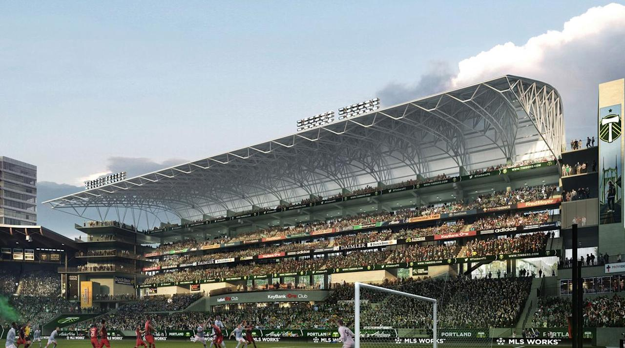 <p>The Timbers are adding 4,000 seats as part of a $50 million renovation to Providence Park.</p>