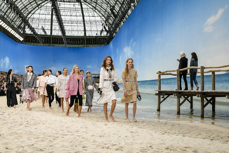 Chanel's Spring 2019 set was the beach.