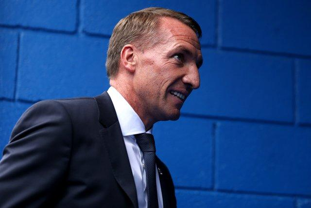 Brendan Rodgers is back taking training at Leicester