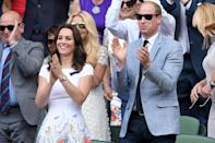 <p>Wearing a poppy-print dress by <span>Ted Baker</span>, Kate cheered on Roger Federer as he took on rival Marin Cilic. <strong>Get the Look:</strong> Ted Baker Ahlanna Sketchbook A-Line Skater Dress, $295; <span>zappos.com</span> ERIN by Erin Fetherston Suzie Floral Print Fit & Flare Dress, $149.99; <span>saksoff5th.com</span> CeCe Garden Bloom Printed Fit & Flare Handkerchief-Hem Dress, $119; <span>macys.com</span> RD & Koko Flared Dress, $58; <span>forever21.com</span> Nora Floral Border Print Shift Dress, $40; <span>boohoo.com</span></p>