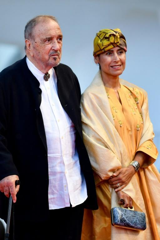 Carriere with his wife, the Iranian writer Nahal Tajadod