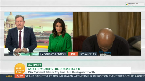 At one point Tyson sat slumped forwards in his seat. (ITV)