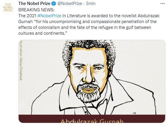 Twitter The Nobel Prize (Photo: Twitter The Nobel Prize)