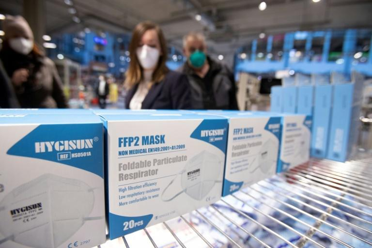 Tthe masks, which block 94 percent of aerosols, can now be found at all grocery stores for 59 cents each.