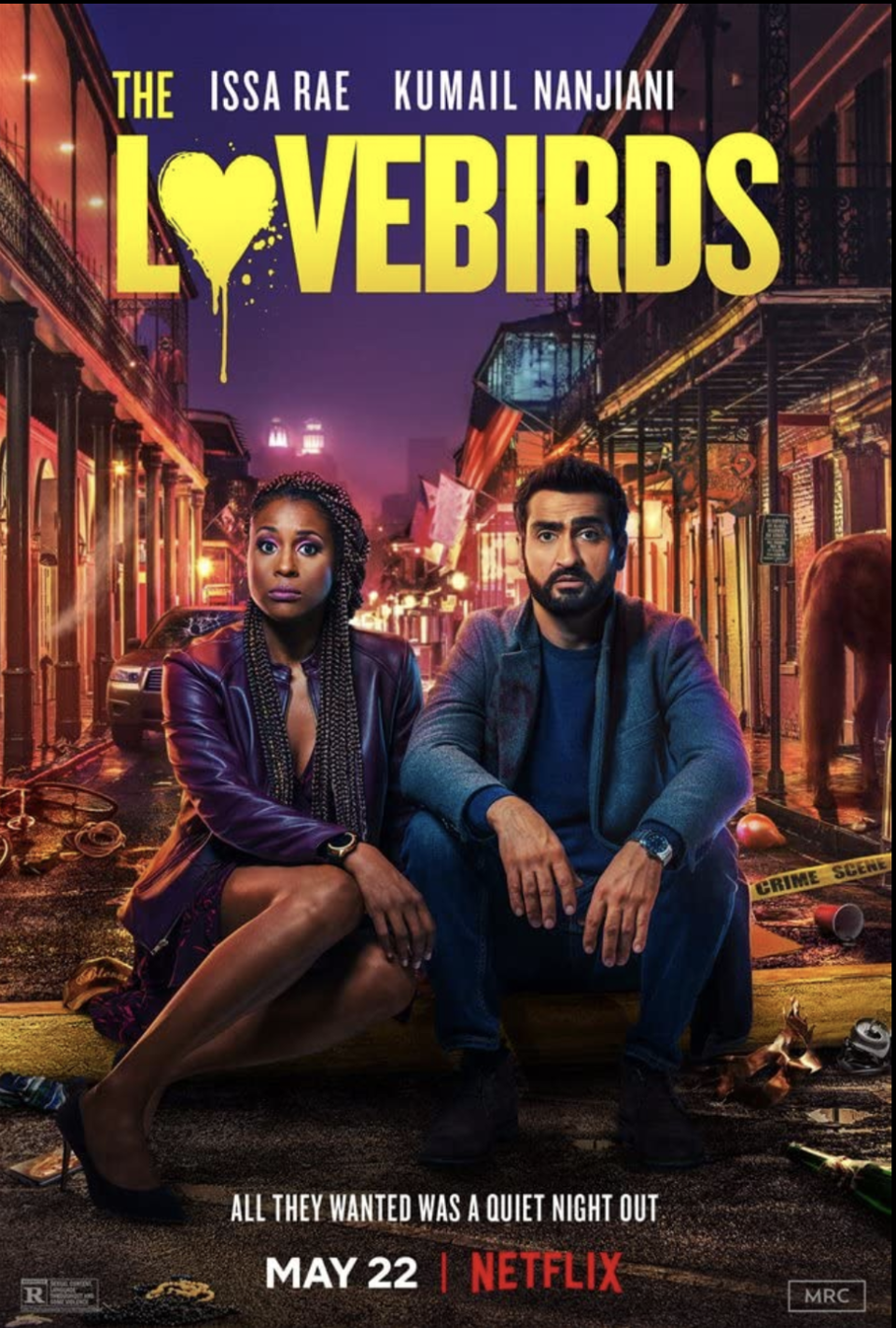 "<p>Kumail Nanjiani and Issa Rae play a couple who just want a nice date night, but they accidentally get embroiled in a murder mystery. This rom-com really leans on the comedy side of things, and is sure to make you laugh.</p><p><a class=""link rapid-noclick-resp"" href=""https://www.netflix.com/search?q=the+love&jbv=81248748"" rel=""nofollow noopener"" target=""_blank"" data-ylk=""slk:STREAM NOW"">STREAM NOW</a></p>"