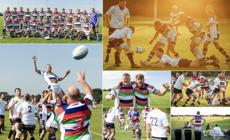 The longest game of rugby lasted 30 overs and aims to raise a six-figure sum for charity
