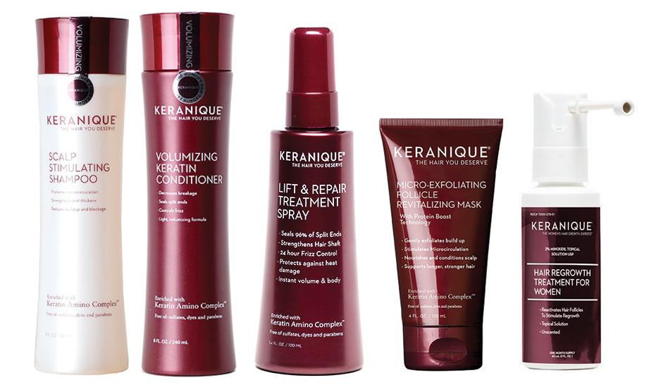 Keranique hair care system helped Cameran Eubanks with postpartum hair loss. (Photo: Keranique)