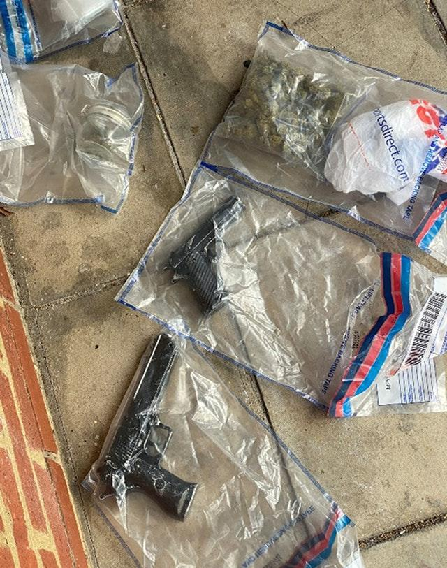 Drugs and guns discovered during Operation Pandilla