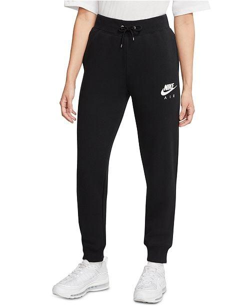 """<p>These <a href=""""https://www.popsugar.com/buy/Nike-Air-Fleece-Sweatpants-557552?p_name=Nike%20Air%20Fleece%20Sweatpants&retailer=macys.com&pid=557552&price=70&evar1=fab%3Aus&evar9=47316989&evar98=https%3A%2F%2Fwww.popsugar.com%2Ffashion%2Fphoto-gallery%2F47316989%2Fimage%2F47316999%2FNike-Air-Fleece-Sweatpants&list1=shopping%2Cnike%2Csweatpants%2Cpants%2Cloungewear&prop13=mobile&pdata=1"""" rel=""""nofollow"""" data-shoppable-link=""""1"""" target=""""_blank"""" class=""""ga-track"""" data-ga-category=""""Related"""" data-ga-label=""""https://www.macys.com/shop/product/nike-womens-air-fleece-sweatpants?ID=9920645&amp;CategoryID=118"""" data-ga-action=""""In-Line Links"""">Nike Air Fleece Sweatpants</a> ($70) are super comfortable, and you can still work out in them.</p>"""