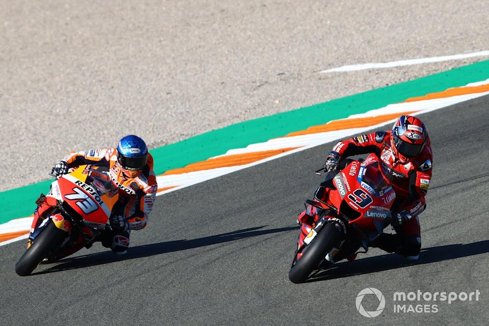 "Danilo Petrucci, Ducati Team, Alex Marquez, Repsol Honda Team<span class=""copyright"">Gold and Goose / Motorsport Images</span>"