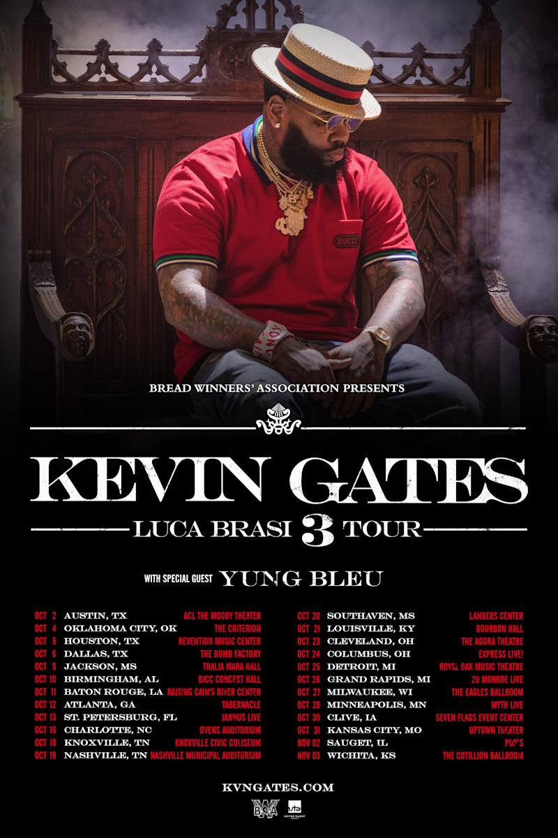 Kevin Gates Announces Luca Brasi 3 Tour With Yung Bleu