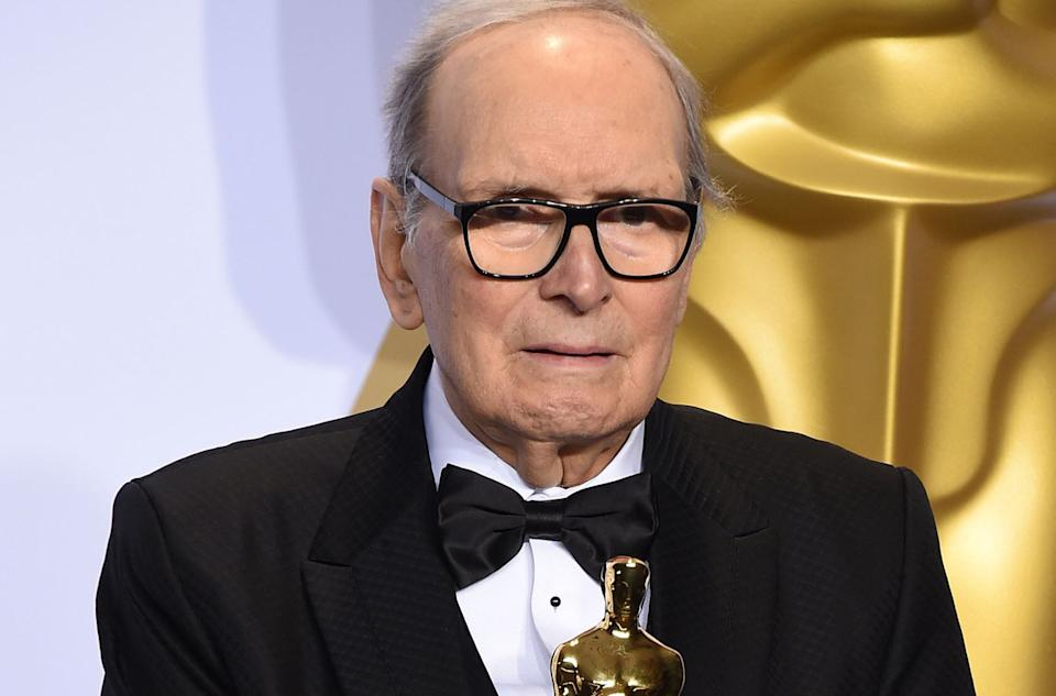 """Oscar-winning movie composer Ennio Morricone, who produced more than 400 original scores for feature films, including """"The Good, the Bad and the Ugly"""" and """"The Untouchables,"""" died on July 6, 2020. He was 91."""