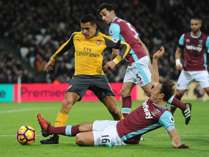 Alexis Sanchez blew the Hammers away at the London Stadium in December: Getty
