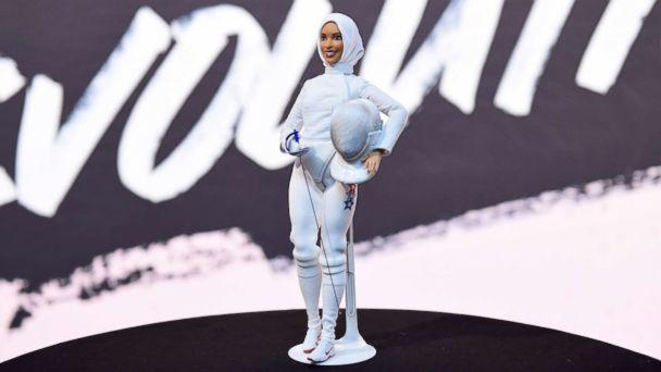 PHOTO: A view of the Ibtihaj Muhammad barbie on display during Glamour Celebrates 2017 Women Of The Year Live Summit at Brooklyn Museum, Nov. 13, 2017, in New York City. (Ilya S. Savenok/Getty Images for Glamour)