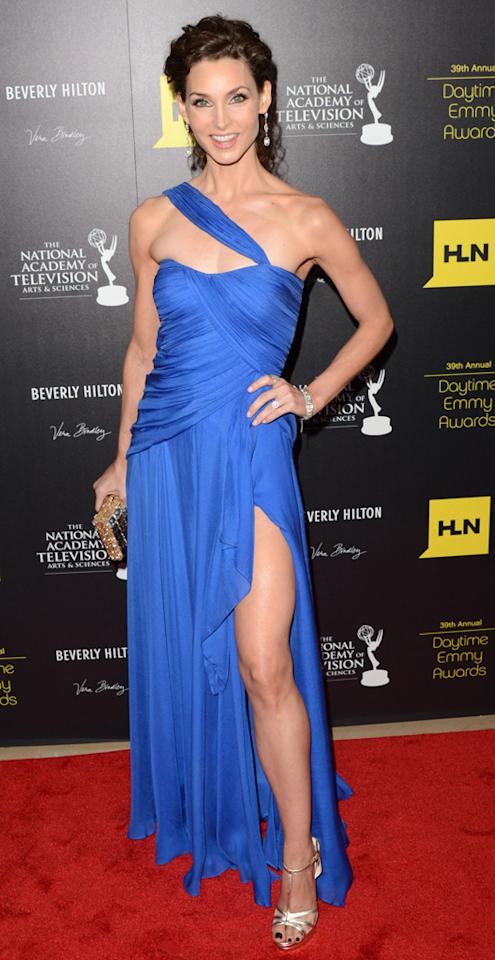 Alicia Minshew arrives at The 39th Annual Daytime Emmy Awards held at The Beverly Hilton Hotel on June 23, 2012 in Beverly Hills, California.