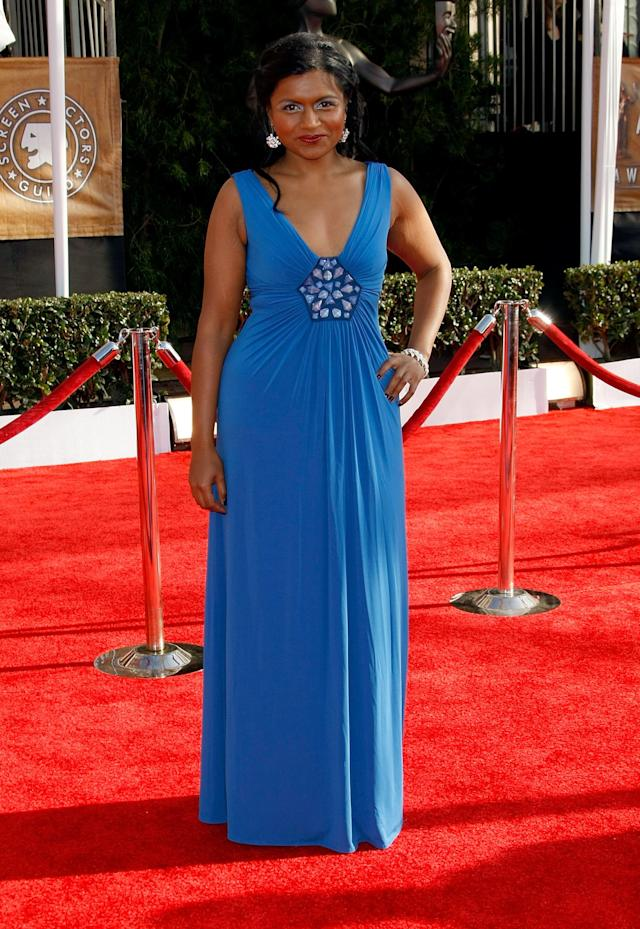 Actress Mindy Kaling arrives to the TNT/TBS broadcast of the 15th Annual Screen Actors Guild Awards at the Shrine Auditorium on January 25, 2009 in Los Angeles, California. 17495_MB_0191.JPG
