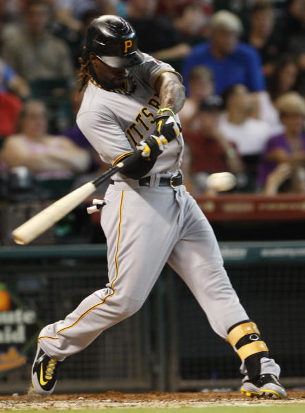 Pittsburgh Pirate Andrew McCutchen (22) grounds out during the third inning of a baseball game against the Pittsburgh Pirates Saturday July 28, 2012 in Houston. (AP Photo/Eric Kayne)