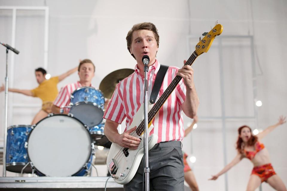 """<p>The biopic <strong>Love &amp; Mercy</strong> weaves between the '60s and '80s as it chronicles the life of The Beach Boys' Brian Wilson and his struggle with mental illness. Paul Dano portrays the younger version of Wilson, while <a class=""""link rapid-noclick-resp"""" href=""""https://www.popsugar.com/John-Cusack"""" rel=""""nofollow noopener"""" target=""""_blank"""" data-ylk=""""slk:John Cusack"""">John Cusack</a> plays him in his later years. </p> <p><a href=""""http://www.hulu.com/movie/love-mercy-bd3e7930-987f-4670-b0f2-a93c100d2ea8"""" class=""""link rapid-noclick-resp"""" rel=""""nofollow noopener"""" target=""""_blank"""" data-ylk=""""slk:Watch Love &amp; Mercy on Hulu."""">Watch <strong>Love &amp; Mercy</strong> on Hulu.</a></p>"""