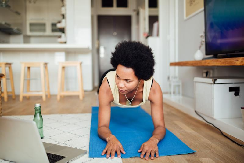 """This Prime Day, we found fitness deals on all kinds of home workout accessories, like this<a href=""""https://amzn.to/2I8k5nF"""" target=""""_blank"""" rel=""""noopener noreferrer"""">IUGA Yoga Mat on sale for $24</a>. (Photo: Brothers91 via Getty Images)"""
