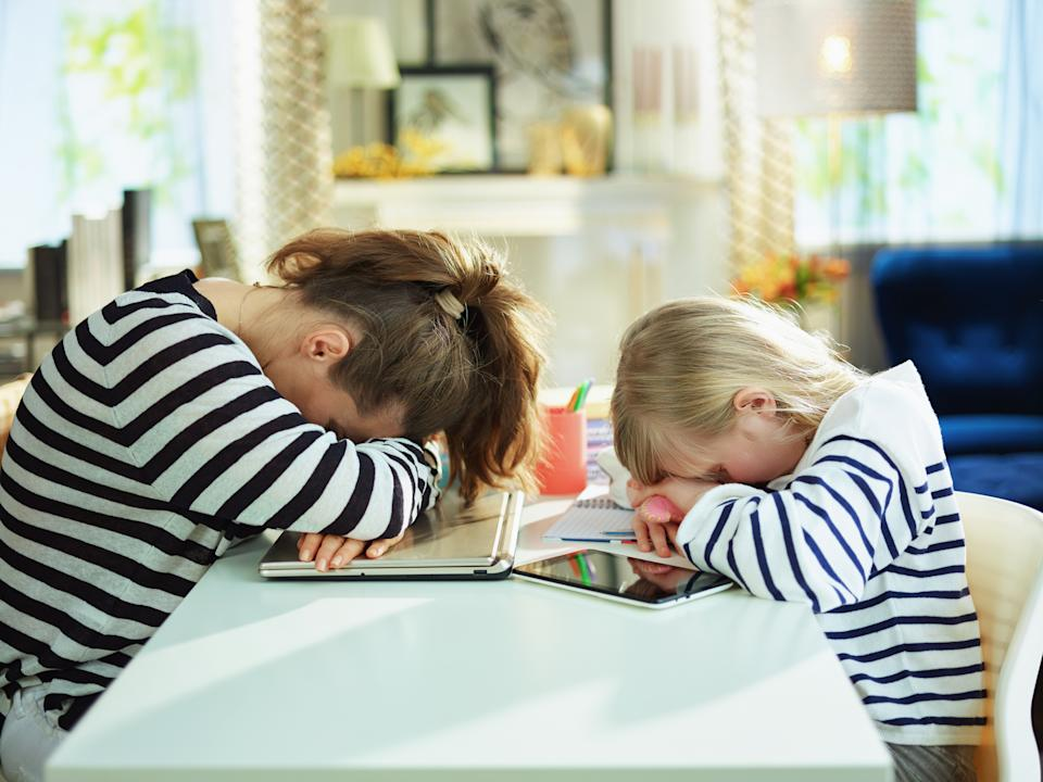Many parents have been struggling to home school their children. (Getty Images)