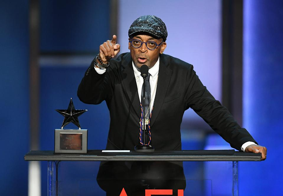 Spike Lee, at an AFI event in 2019, had harsh words for President Trump while accepting a special honor at the New York Film Critics Circle Awards on Sunday.