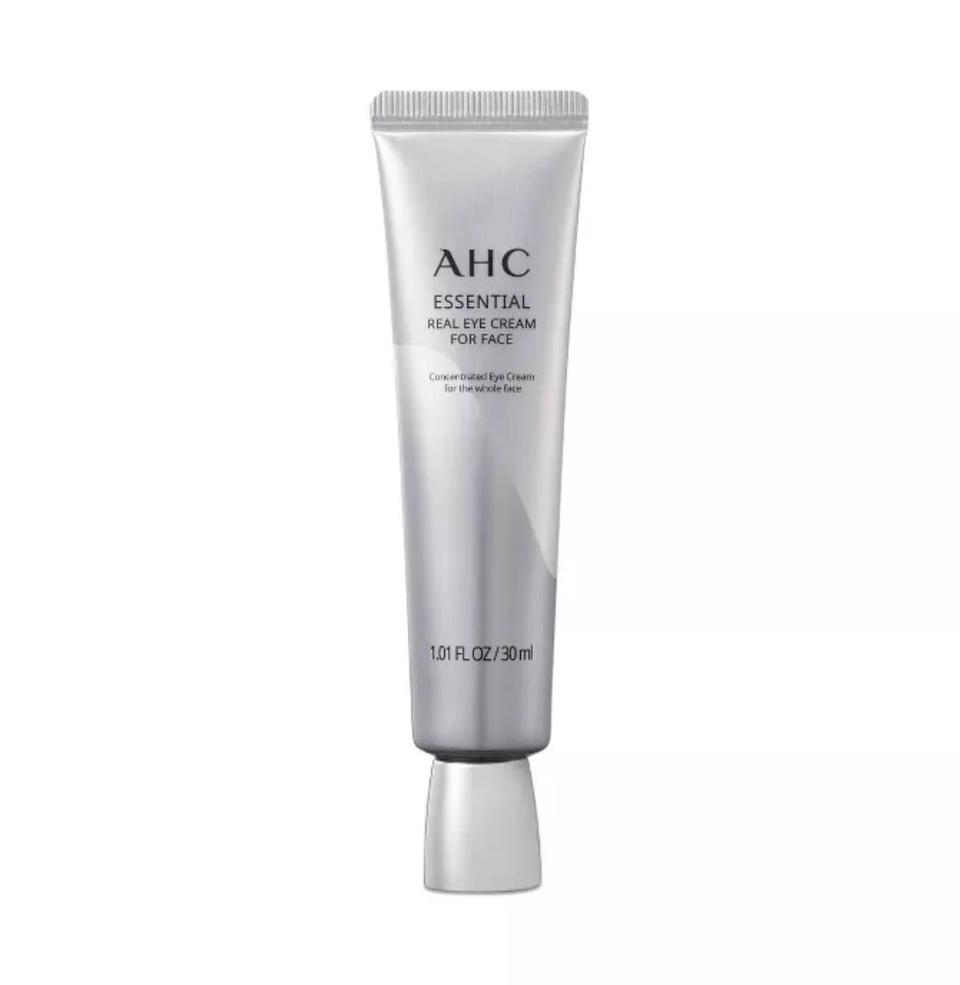 <p>Many western skin-care routines are no stranger to eye cream. The cool thing about <span>AHC's Eye Cream for Face</span> ($29) is, as the name suggests, it can be applied to the entire face. In my opinion, eye creams are typically products that take longer than most to see results from, but applying this day and night is said to eventually leave you with brighter under eyes, and less noticeable fine lines.</p>