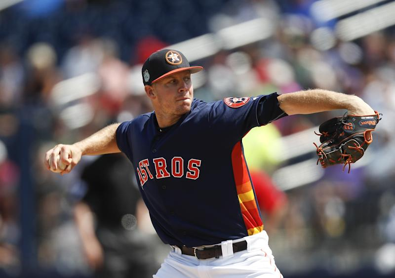 Chris Devenski is emerging as one of the better relief pitchers in baseball. (AP)