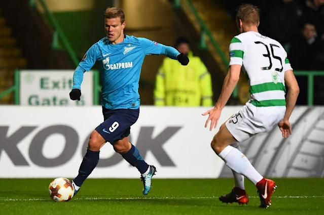 Russia and Zenit St Petersburg striker Alexander Kokorin is expected to miss the World Cup after rupturing knee ligaments (AFP Photo/ANDY BUCHANAN )