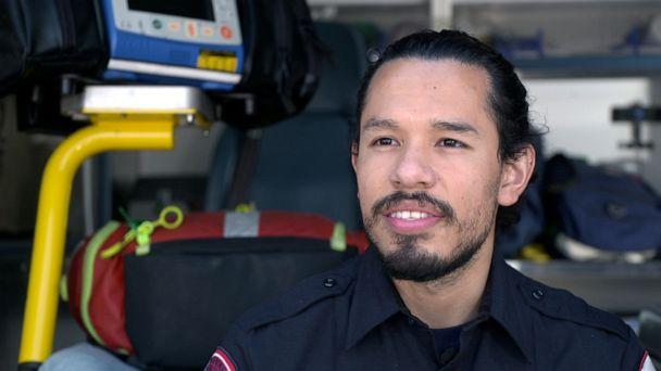 PHOTO: Houston EMT Jesus Contreras is a DACA recipient responding to the COVID-19 pandemic on the front lines. (ABC News)