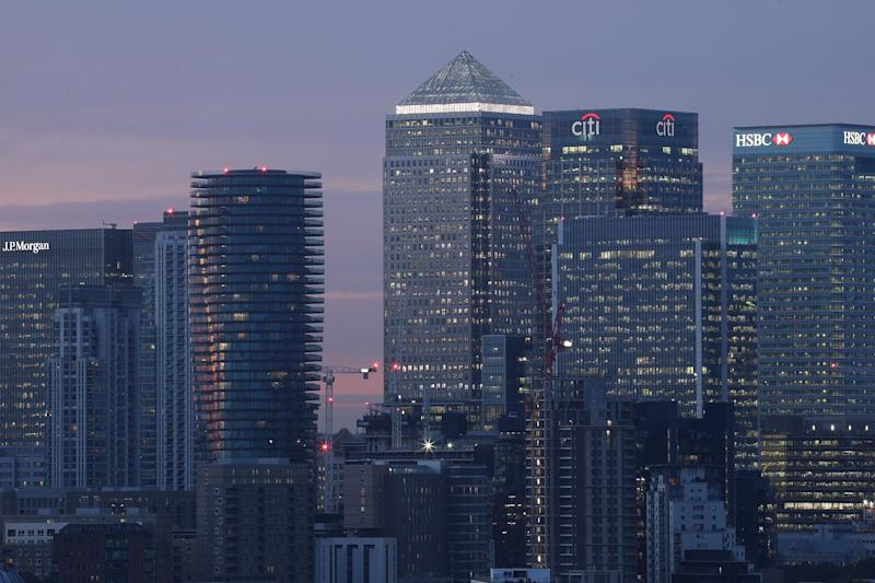 Canary Wharf: UK banks will take a big hit to staffing when Britain leaves the EU: Getty Images