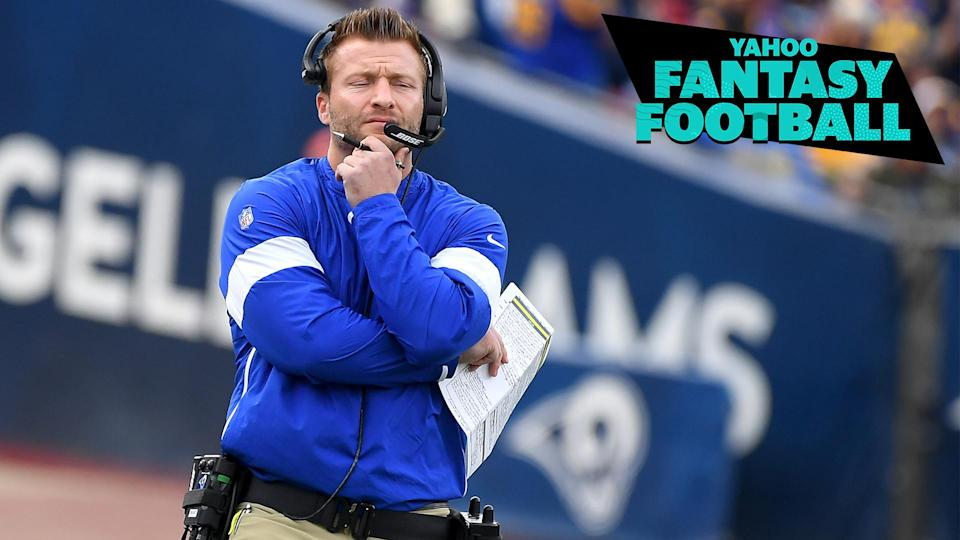 Sean McVay will look to San Francisco for guidance on his backfield rotation.