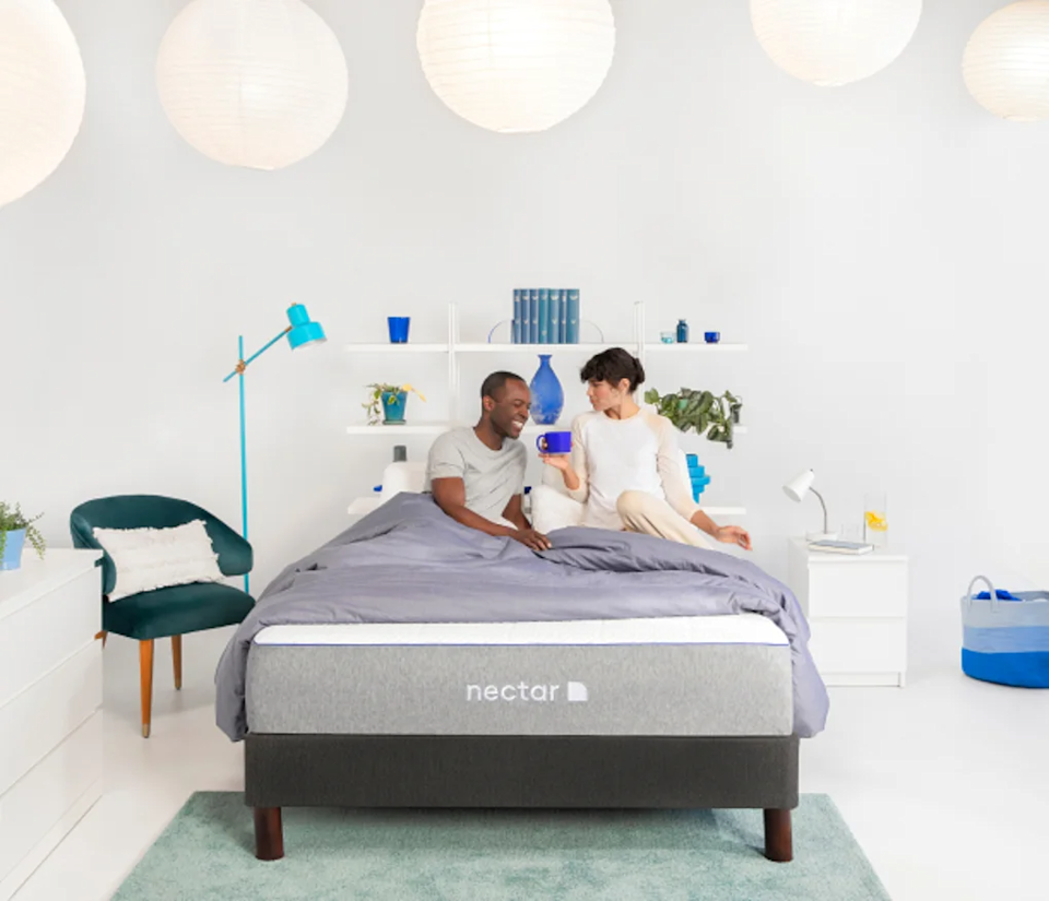 """<strong><h2><a href=""""https://www.nectarsleep.com/mattress"""" rel=""""nofollow noopener"""" target=""""_blank"""" data-ylk=""""slk:Nectar Memory Foam Mattress"""" class=""""link rapid-noclick-resp"""">Nectar Memory Foam Mattress</a></h2></strong><br><strong>Mattress Type</strong>: Memory Foam <br><strong>Sleeper Style</strong>: Side & Back <br><strong>Pros</strong>: Pressure Relief & <a href=""""https://certipur.us/"""" rel=""""nofollow noopener"""" target=""""_blank"""" data-ylk=""""slk:CertiPUR-US"""" class=""""link rapid-noclick-resp"""">CertiPUR-US</a><br><strong>Cons</strong>: Initial Firmness<br> <br>""""Up until now, I have only purchased mattresses the old school way, by walking around a store's showroom with a supplied sanitary hanky to cover the pillow, and testing them one by one like a GD Goldilocks of the best mattresses. After crowning the winner, I've emptied out my checking account upwards of $1200 with an added white-glove delivery service charge since the coiled thing is so big and I am quite small at 5' 1"""" and nary a hulking partner or roommate. This year though, after buying a new home (and truly emptying the bank account) I was on the search for an affordable mattress for our guest room during Covid-times with no interest in visiting a store to snuggle up on multiple beds or paying for extra delivery services. Hence the weeks of online research began and ended with a <a href=""""https://www.nectarsleep.com/mattress"""" rel=""""nofollow noopener"""" target=""""_blank"""" data-ylk=""""slk:Nectar mattress"""" class=""""link rapid-noclick-resp"""">Nectar mattress</a>.""""<br> <br>""""First, while this is for the guest room, for reasons of both considerations for future guests like my mother-in-law who is asthmatic, a father who has back problems, and a few uppity close friends, I wanted affordable but not cheap in quality. Also, for this review, my partner and I did sleep on the mattress for just over 30 days which was a fun little escape within our own house. Oh, the times we live in — where spending a month in the guest room is considered an"""