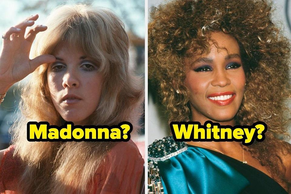 """Stevie Nicks with the name """"Madonna?"""" and Whitney Houston with the name """"Whitney?"""""""