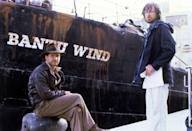 <p>Ford and Spielberg on the set of <em>Raiders of the Lost Ark</em>.</p>