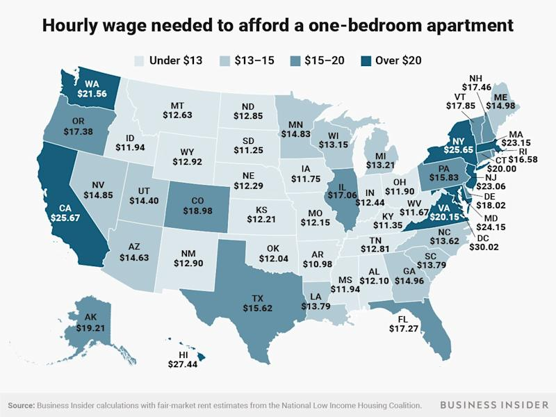 one bedroom wage