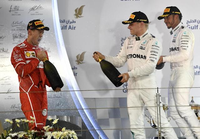 Hamilton was left underwhelmed with second place (Getty)