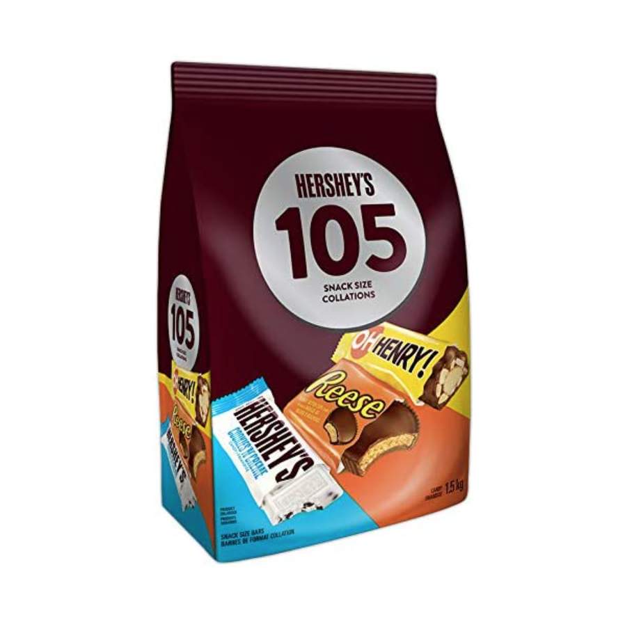 HERSHEY'S 105ct Assorted Bulk Chocolate Bars.