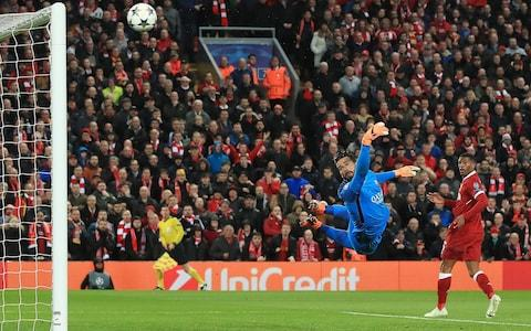 Salah (not pictured) puts Liverpool ahead - Credit: Peter Byrne/PA Wire