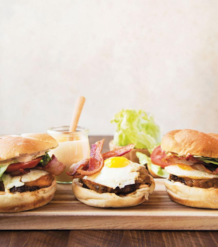 """<p>It is an undisputed, very unscientific fact that a breakfast burger—of the fatty, greasy, almost overwhelming sort—is the best cure for a hangover.</p><p>Get the recipe:<a rel=""""nofollow"""" href=""""http://www.delish.com/cooking/recipe-ideas/recipes/a52279/the-breakfast-burger-recipe/"""">The Breakfast Burger</a></p>"""